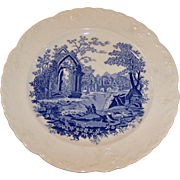 "Taylor Smith Taylor English Abbey Blue Transfer 8 1/4"" Plate"