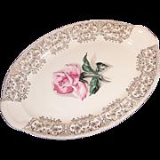 1950's Taylor Smith Taylor Rhythm Rose Platter