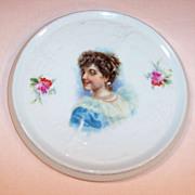 Victorian Girl Vintage Tea Tile Trivet