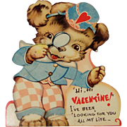Vintage Valentine Mechanical  Doggie Detective