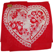Vintage Kimball Hidden Heart Valentine Hankie