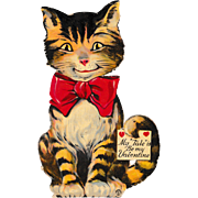 Large 1920's Louis Katz Cat Valentine
