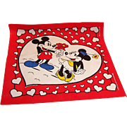 Mickey and Minnie Mouse Valentine's Day Bandanna Scarf Hankie