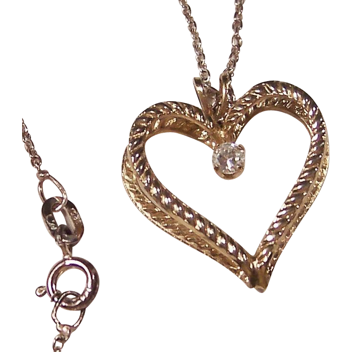 Double Heart Pendant Necklace & Crystal Rhinestone