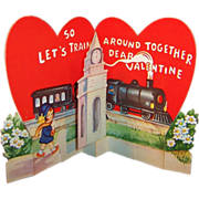 Unique Vintage Pop Up Train Station Valentine (Unsigned)