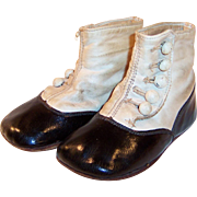 Victorian Hightop Five Button Baby or Doll Shoes