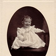 Antique Victorian Photograph: Baby Hugh