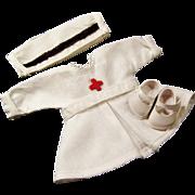 Original Vogue Ginny Doll Nurse Dress Uniform, Cap, and Shoes