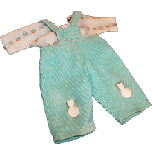 "1950's Vogue 8"" Ginnette Baby Doll Corduroy Overalls & Jersey Shirt (# 6503)"