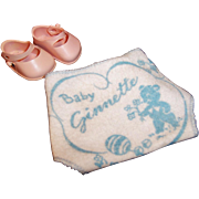 1950's Vintage Vogue Baby Doll Ginnette Pink Shoes and Diaper