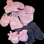 Original 1956 Vogue Baby Doll Ginnette Snow Ski Suit No. 6508 --Excellent!