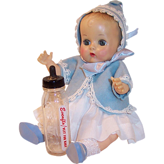 Vogue 1950's Ginnette Doll Baby, Dress, Jacket, Bonnet, Bottle, Socks and Shoes