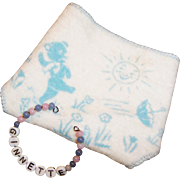 1950's Vogue Ginnette Diaper & Baby Bead Name Bracelet