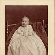 Victorian Antique Photograph Cabinet Card ~ Infant Baby Catherine