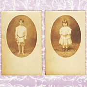 Early 1900's Real Photo Postcards Catherine & Hugh