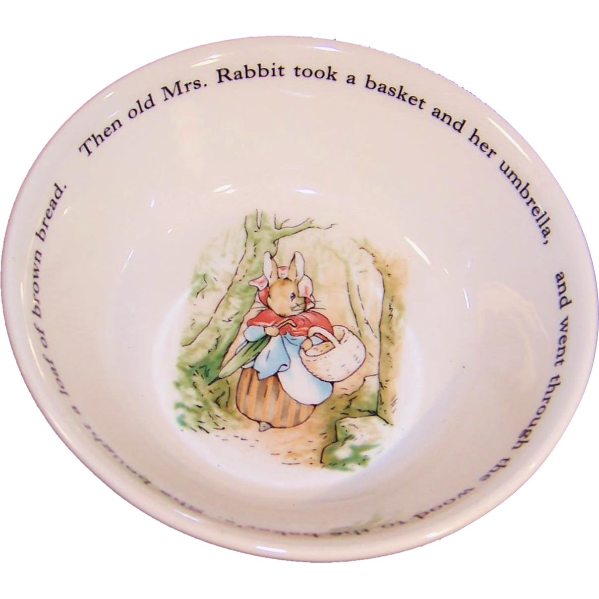 "Excellent Vintage Wedgwood Peter Rabbit Child's or Baby 6"" Soup / Cereal Bowl"