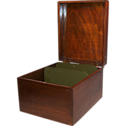 """Large Wooden File Box (8"""" x 5"""" Cards Fit in this Box"""