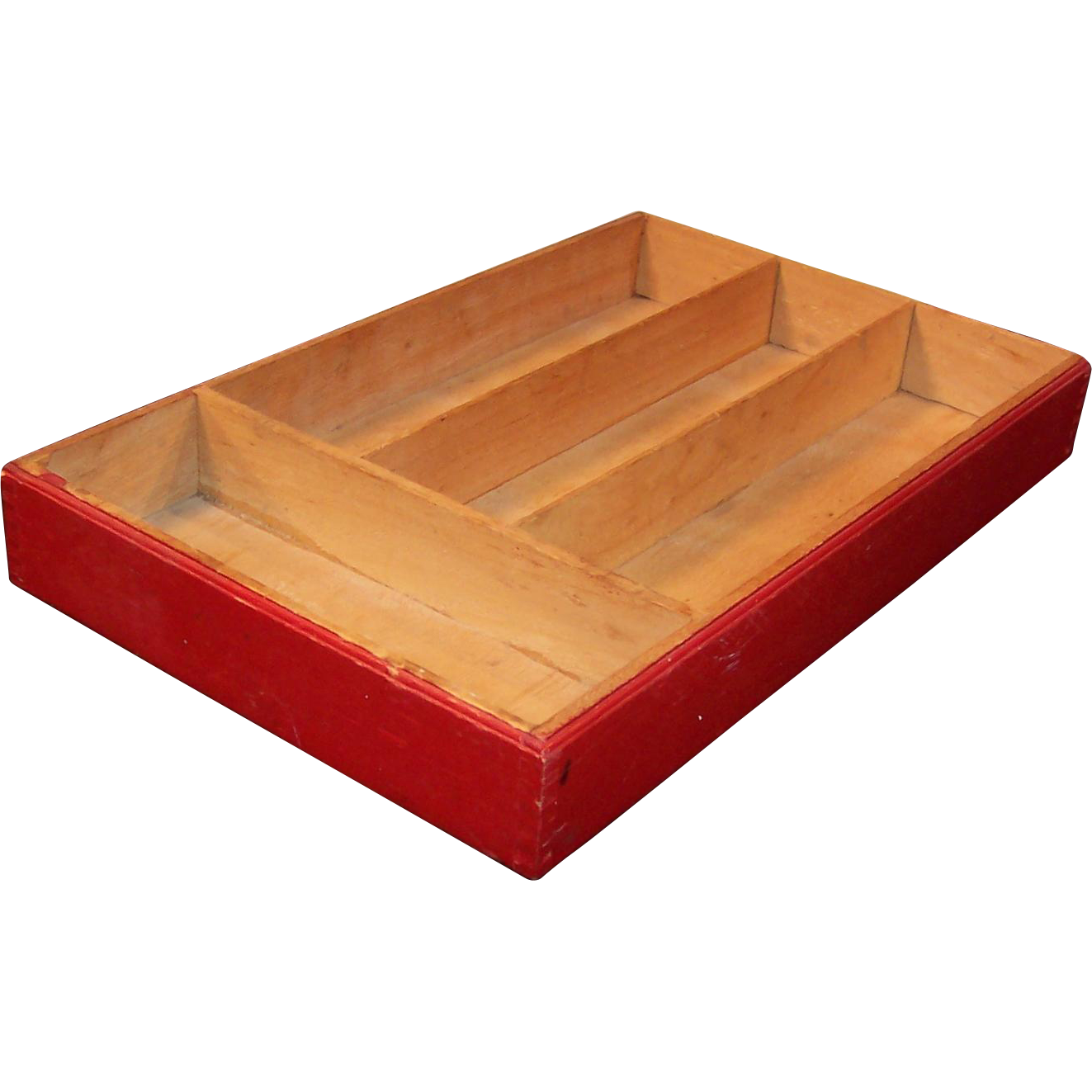 Wood Cutlery or Flatware Utensil Tray