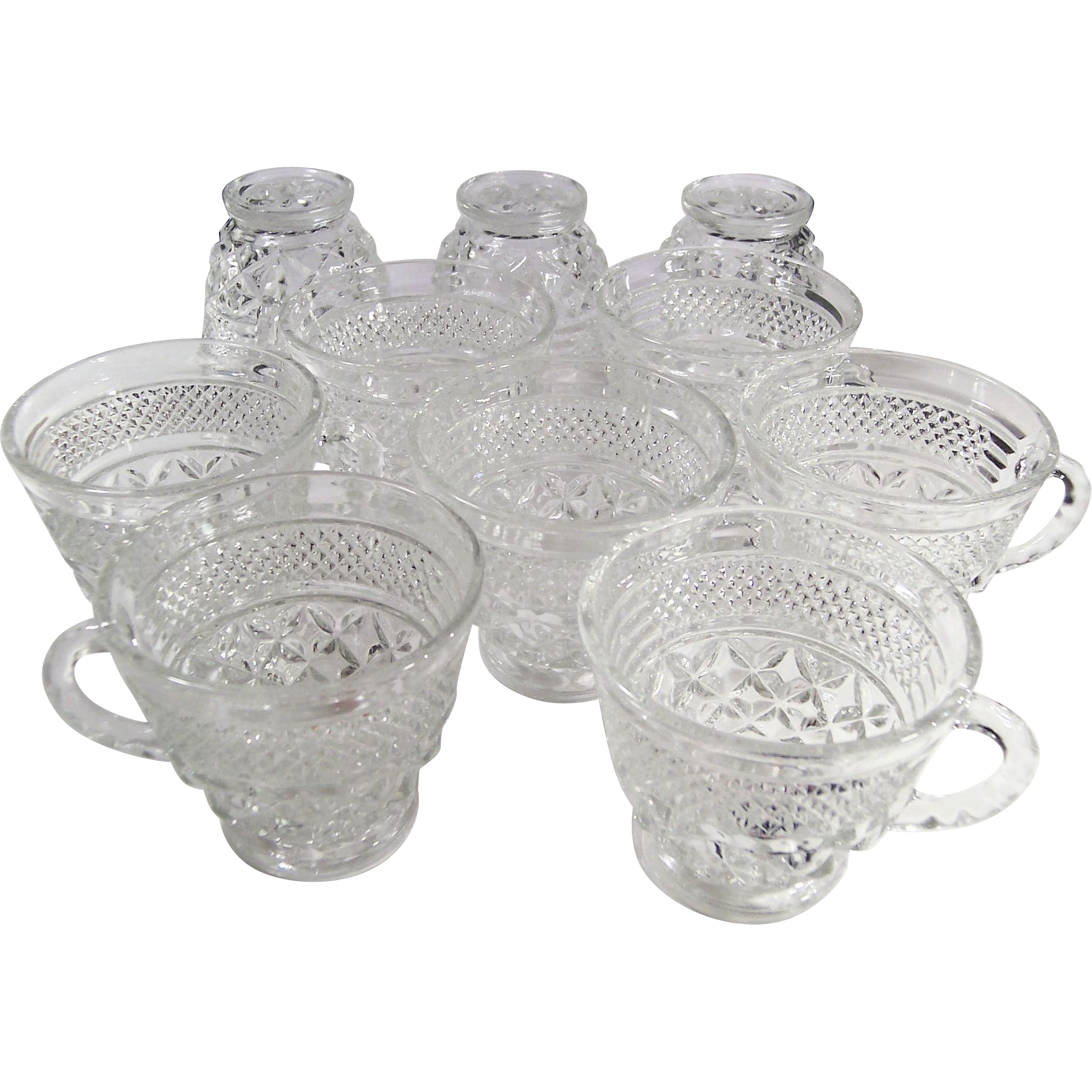 SET OF 10: Crystal Clear Wexford Cups
