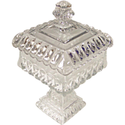 Elegant Westmoreland Clear Wedding Bowl Candy Box and Lid