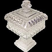Elegant Westmoreland Clear Wedding Bowl Candy Box and Lid