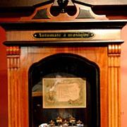 Station/Showcase Cylinder Music Box with Dancing Dolls cir.1890
