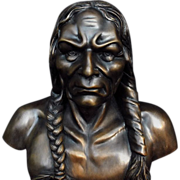 Native American Indian Bronze Statue