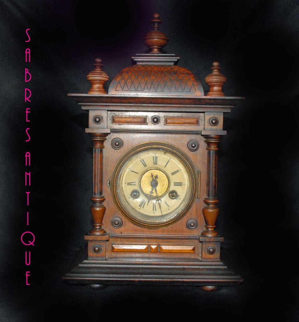 German Antique Janghans Mantel/Table Clock SOLD on Ruby Lane Antique Table Clocks