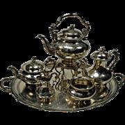 Antique Ekilngton Silverplated Tea Set cir. 1850