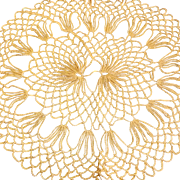 Vintage Crochet Doily Table Cover Light Orange