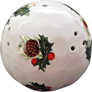Queen's Bone China England Vintage Pomander Holly Berries Pinecones