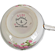 Peach Blossom Tea Cup Saucer Vintage Royal Chelsea Bone China