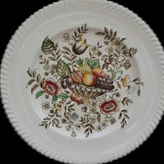 Vintage Johnson Brothers Windsor Ware Pomona Plate Fruit Basket Flowers