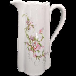 Vintage Haviland Limoges Creamer Milk Pitcher Ewer Pink Purple Floral Sprays