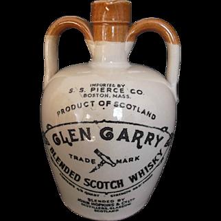Vintage Glen Garry Scotch Whisky Jug Imported by S. S. Pierce Boston
