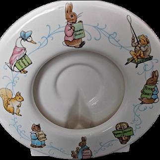 Schmid Beatrix Potter Ceramic Photo Picture Frame 1992