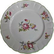 Limoges Wm. Guerin Plates Flowers Pink Blue Yellow Green Vintage China
