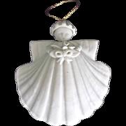 Vintage 1985 Handmade Porcelain Angel by Margaret Furlong Ornament
