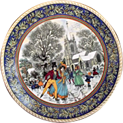 Royal Worcester Christmas Past Boxing Day Plate Sue Scullard Fine Bone China