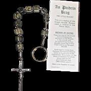 Vintage 1976 Little Rosary Single Decade Rosary Connemara Marble Ireland - Red Tag Sale Item
