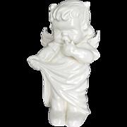 Sweet Devilish Vintage Ceramic Angel Figurine with Wings