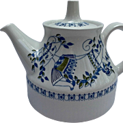 MCM Figgjo Flint Norway Vintage Lotte Turi Design Mini Tea Pot Circa 1972