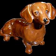 Vintage England Ceramic Dachshund Dog Figurine