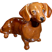 VintageEngland Ceramic Dachshund Dog Figurine