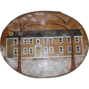 Vintage Hand Painted Oval Shaker Box 1984 New London N. H.