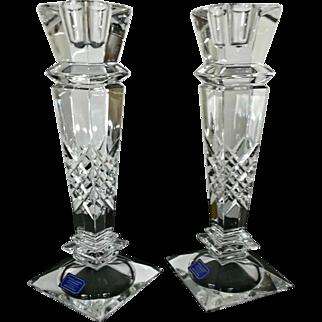 Crystal Candlesticks Candleholders by Godinger