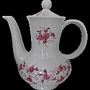 Seltmann Bavaria Pink Floral Vintage Porcelain Coffee Pot Annabell