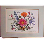 Set of Four Vintage Pimpernel North American Wild Flowers Placemats