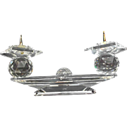 Vintage Swarovski Crystal Small Double Candlestick Pin Style