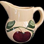 Watt Pottery Apple Pitcher 1952 - 1962 Vintage Farmhouse Kitchen Decor